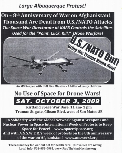 Stop the War Machine Flyer