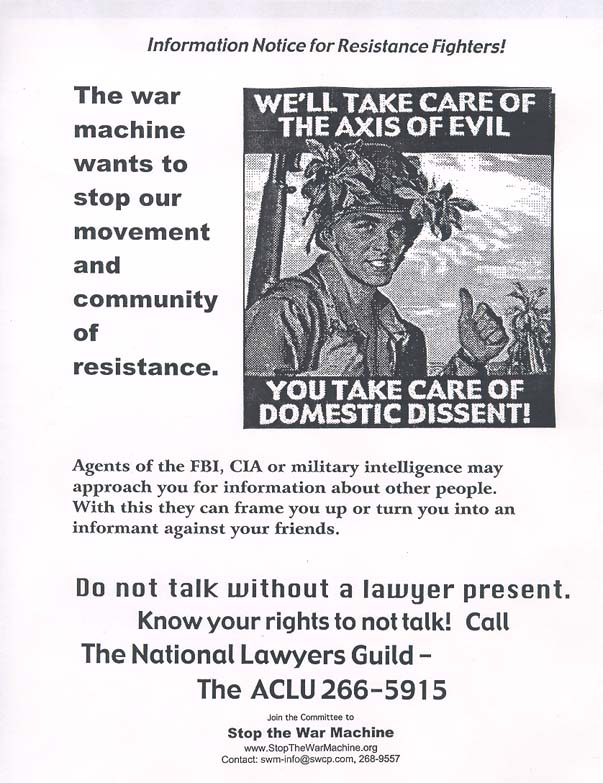 Resistance Fighters Notice!